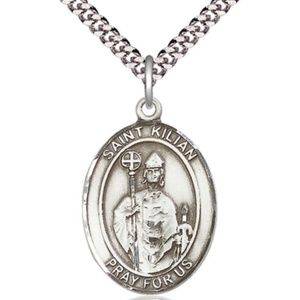 Sterling Silver St Kilian Pendant